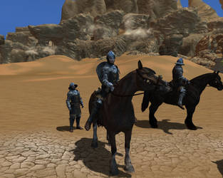 Knights in the desert of Hammerfell country by Brody2021