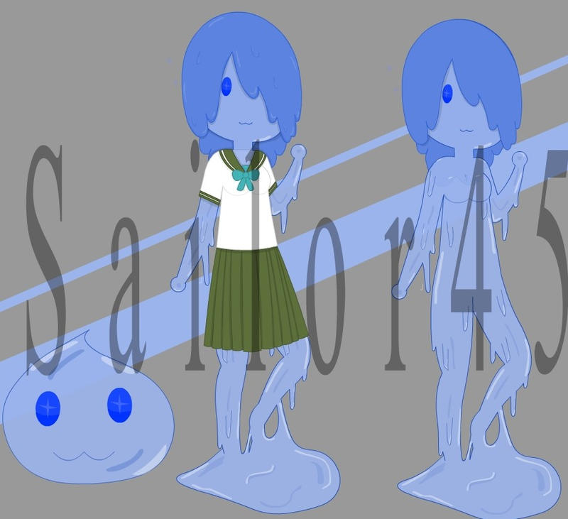 Slime girl Adoptable (open) lower price by sailor45