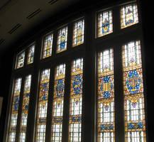 Hebrew Stainglass Window by WestytheTraveler