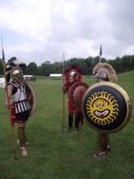 Greek Hoplites 2 by WestytheTraveler