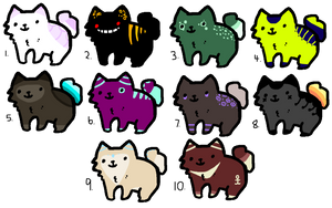 5 Point Blob Cats (OPEN) by 1-800-ADOPT