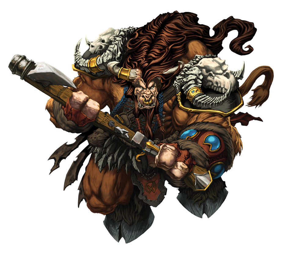 Warcraft Tauren Art by mikebowden