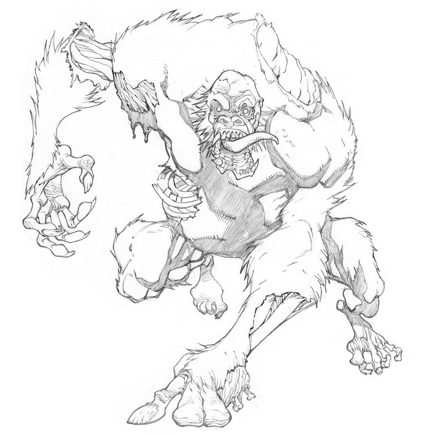 Zombie Ape by mikebowden on DeviantArt