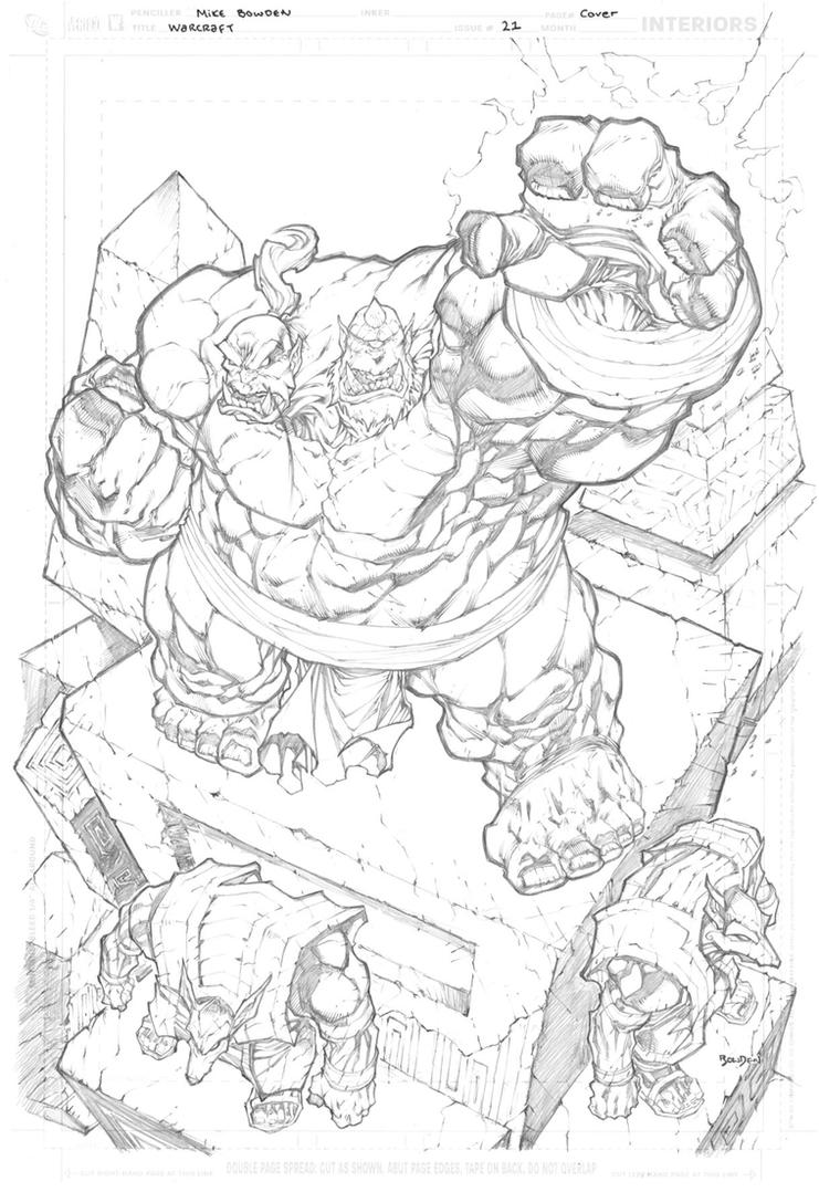 Warcraft 21 Cover Pencils by mikebowden