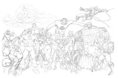 Marvel John Byrne Recreation by mikebowden