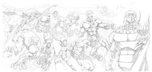 Jim Lee Homage X-Men #1 Commission