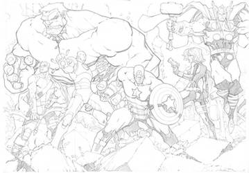 Avengers Assemble by mikebowden