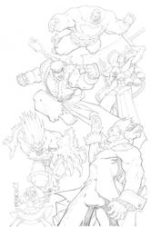 Streetfighter vs Darkstalkers 2 by mikebowden