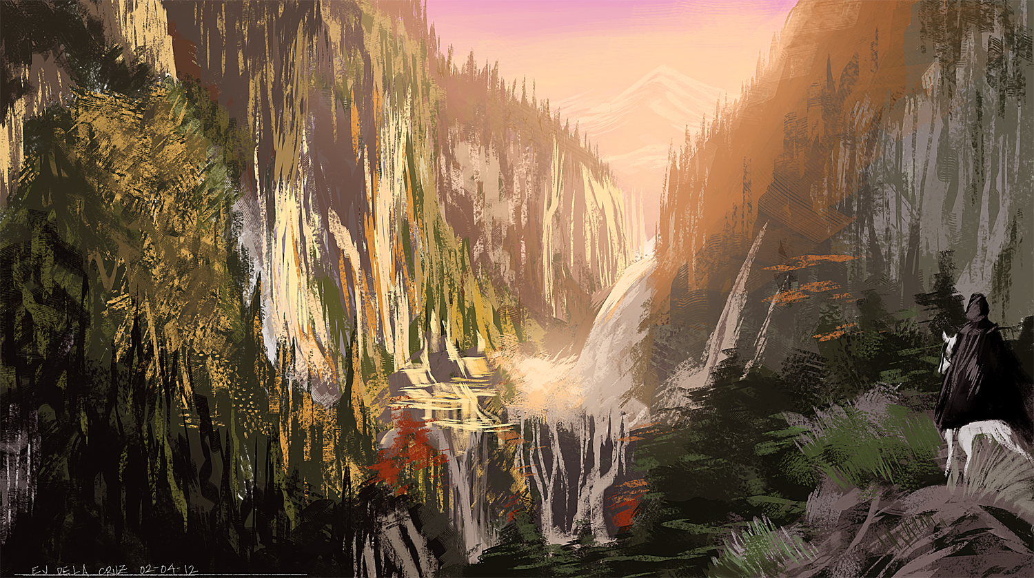 Lord Of The Rings Painting Study By Ejdc On Deviantart