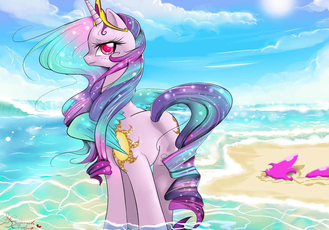 summer style Celestia by Daughter-of-Fantasy