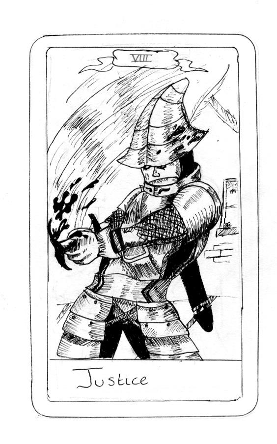FFIX Tarot: 8 Justice by sugerplumfairygirl