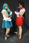 SailorMoon cosplay: SailorNeptune and SailorMars 6