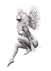 Even Angels wear tattoos by DiRi