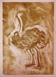 Ostrich - Monoprint