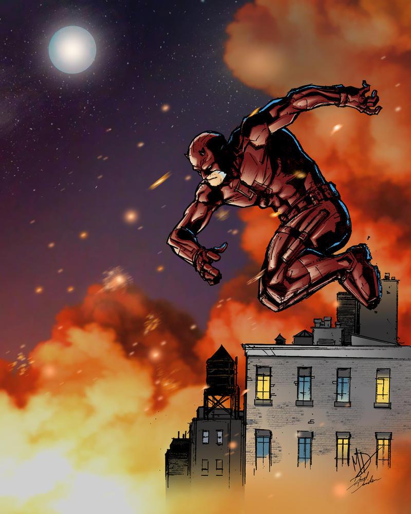 Daredevil Full Moon Fire by FilMFlaM