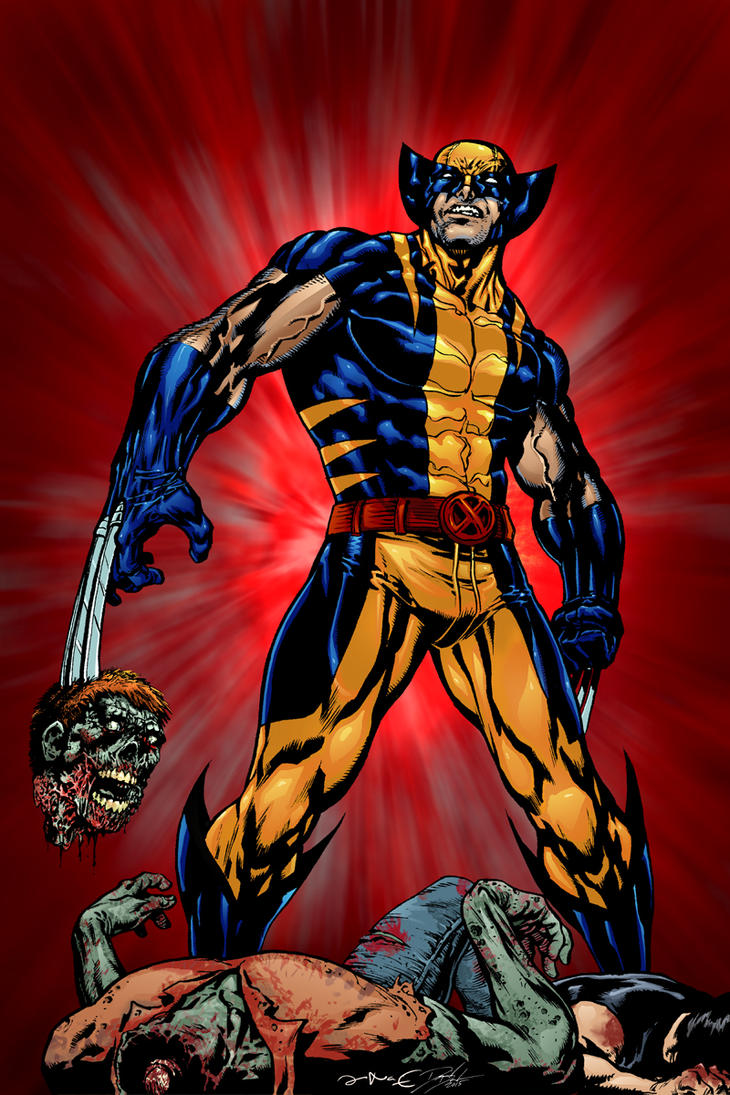 Wolverine vs Zombie by FilMFlaM