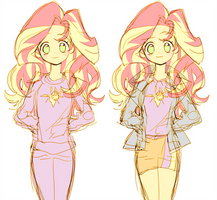 sunset shimmer: Sleepwear and jacket by memoneo