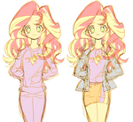 sunset shimmer: Sleepwear and jacket