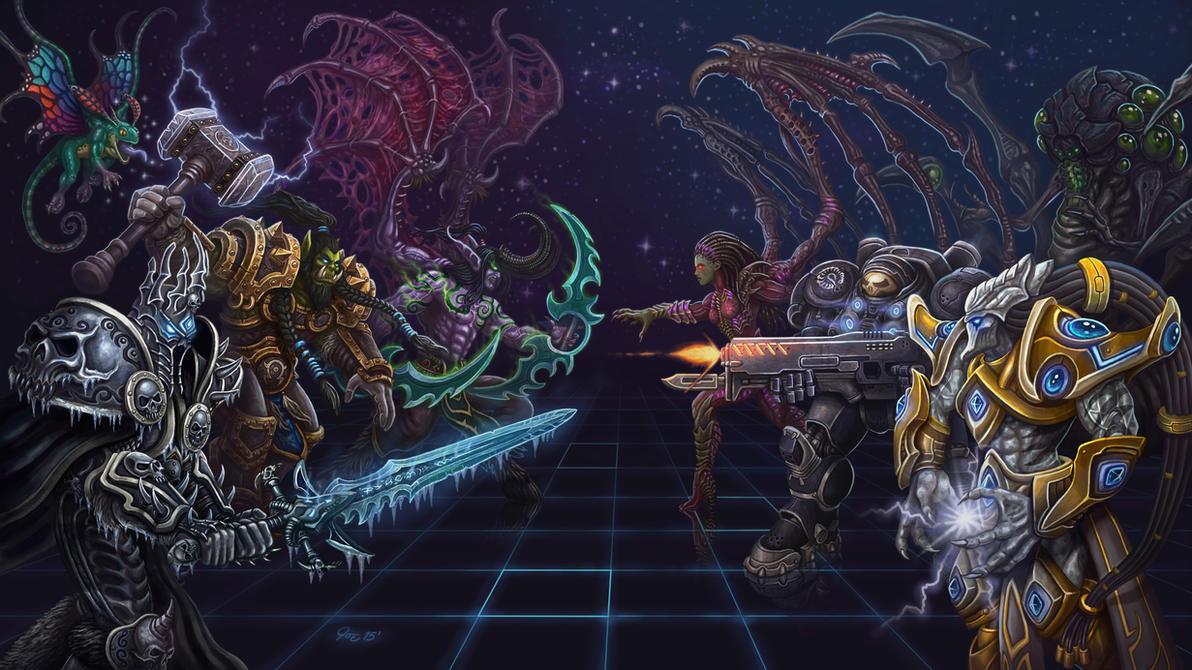 Warcraft Vs Starcraft by JoeDomani