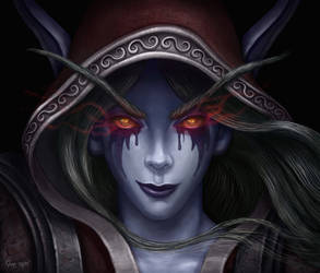 Dark Ranger Lady Sylvanas - Warcraft by JoeDomani