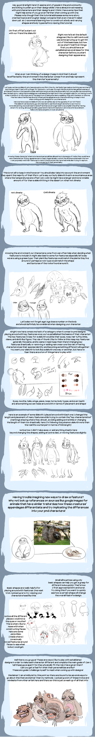 Character Design Tips : Tips on pmd character design by srarlight deviantart