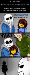 UNDERTALE: The sadness end [Sans - Frisk] by TheTimeLimit
