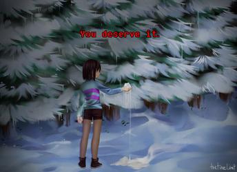 [UNDERTALE] Fanart: You deserve it. by TheTimeLimit