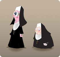 nuns by Pixelflakes