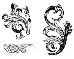 ornate damask swirls victorian style by Pixelflakes