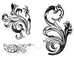 ornate damask swirls victorian style