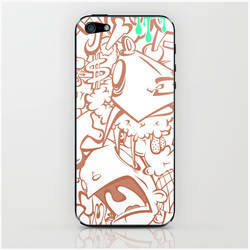 sticker art pile-up phone case by Pixelflakes