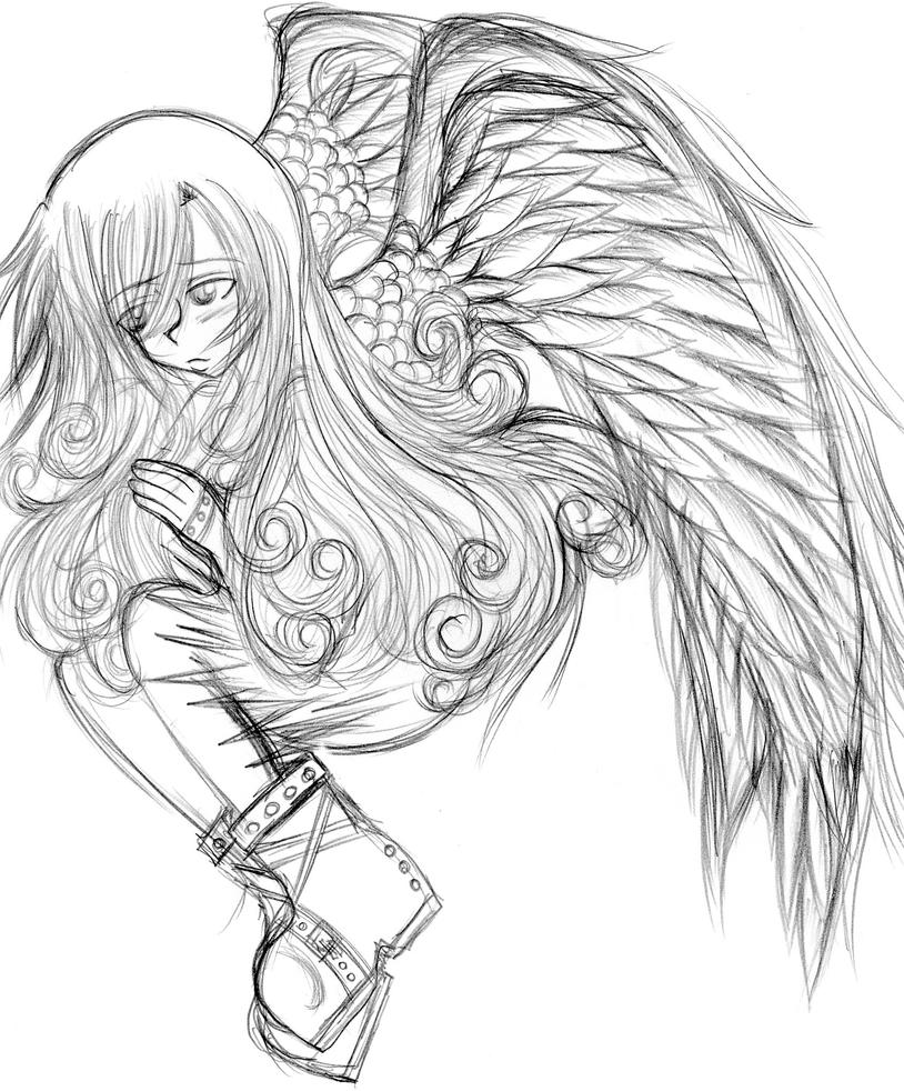Baby coloring pages for adults angel wing baby best free for Angel wings coloring pages