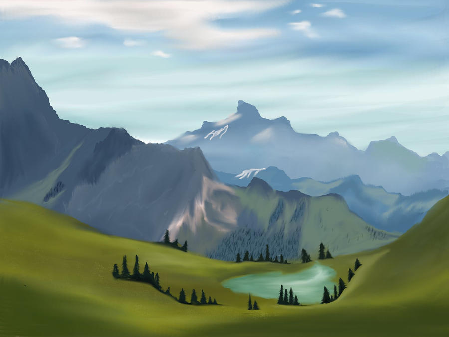 Mountain Lake by Jenniferard2050