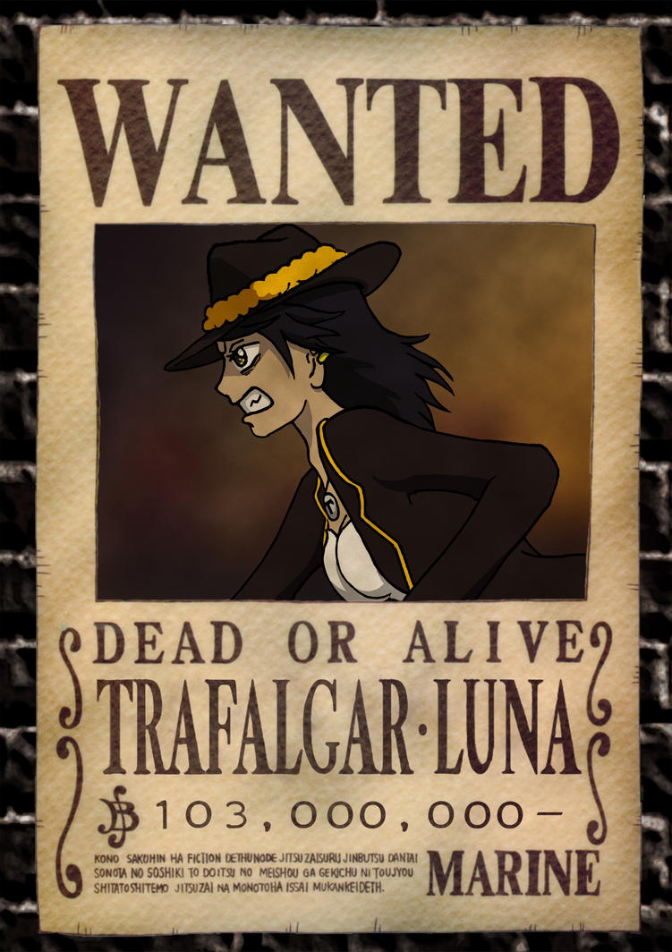 One piece wanted oc luna by evanyia on deviantart - Affiche wanted one piece ...