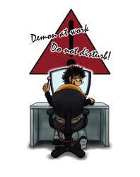 Warning! Demon At Work