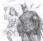 Elektra and Batman