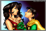 Donna Troy and Jason Todd