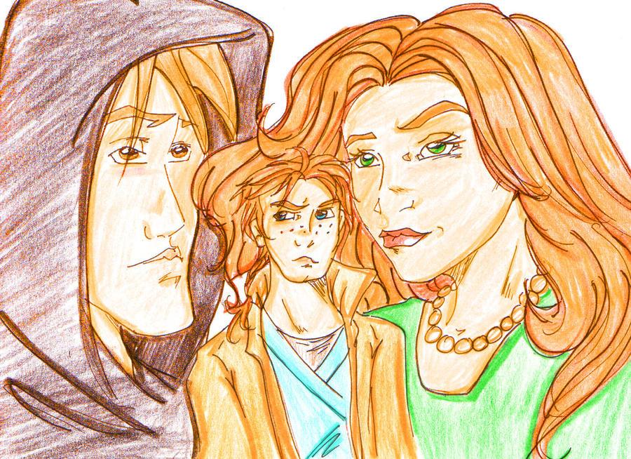 Jacen Ben and Mara by angel-gidget