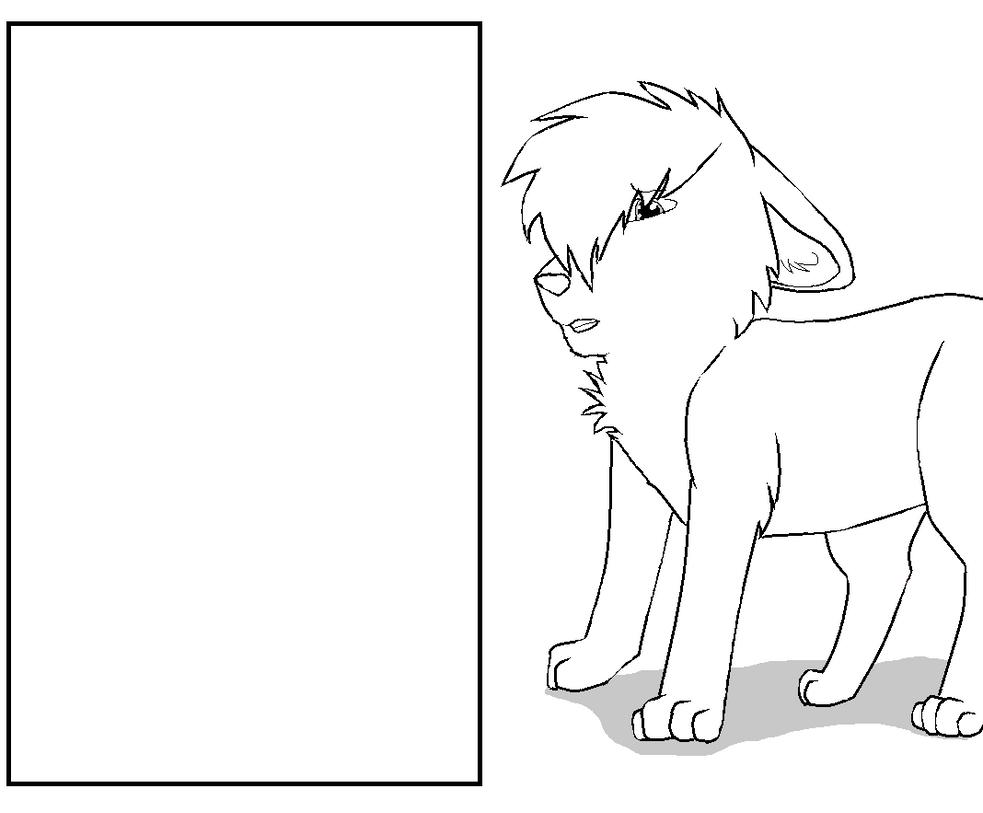 Other Sad Dog Lineart By CuteLittleKittyCat07 On DeviantArt