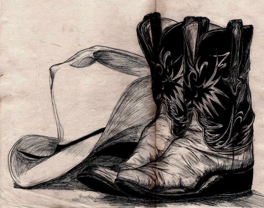 Cowboy sketch drawings - photo#19