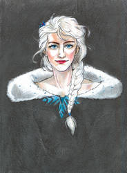 Winter Elsa Portrait by DagronRat