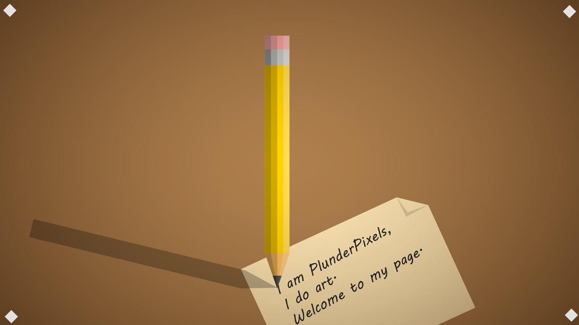 Pencil Desk Scene by PlunderPixels