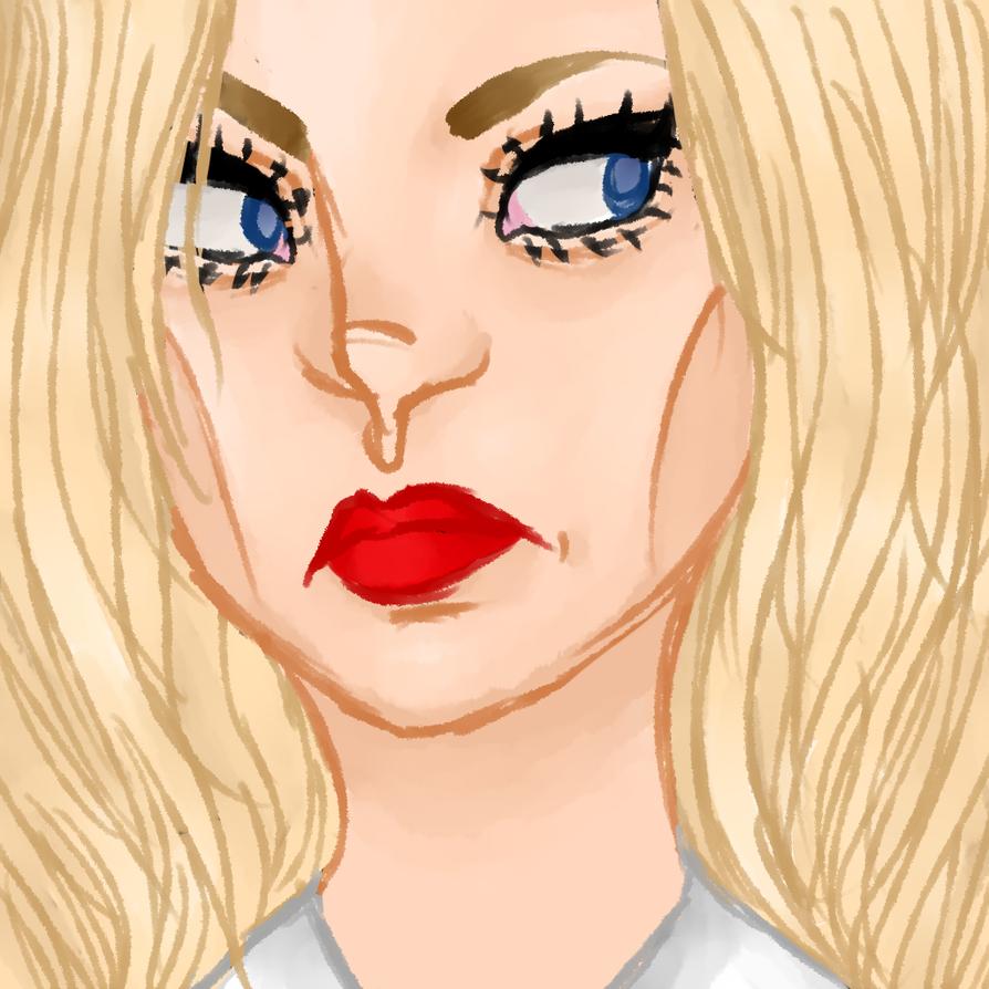 i spent a sad amount of time on those eyebrows by Vriska88888888LOL