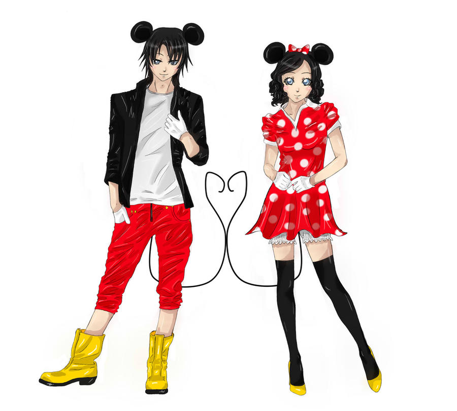 mickey and minnie by x chibi chan x on deviantart. Black Bedroom Furniture Sets. Home Design Ideas