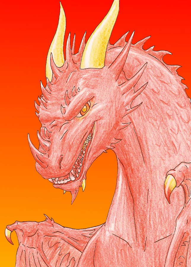 Dinos et autres animaux d'Ami Red_and_evil_dragon_by_amiralda-d3d16vl