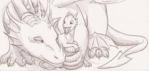 Dragoness and her baby
