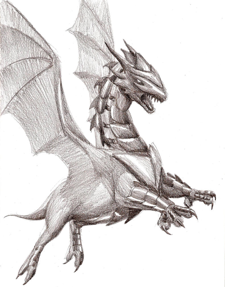 Pencil Armored dragon by Amayensis on DeviantArt