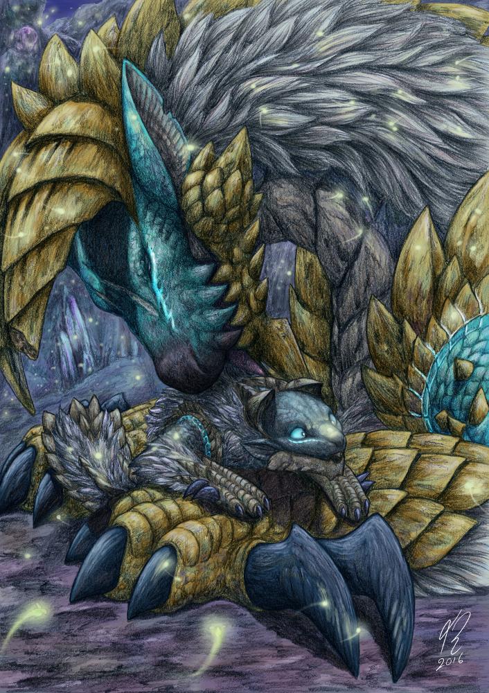 Sweet lights - Monster Hunter fan art by Amayensis