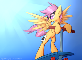Scootaloo. Scoot-Scootaloo by QueenBloodySky