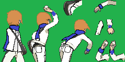 Rival Aizat Back Sprite by FahmyCr3w